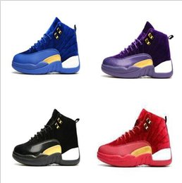 Wholesale Cheap Satin Shoes - Wholesale 2017 cheap air retro 12 wool XII hot sale men basketball shoes High Cut Boots High Quality Sneakers Black White Sports Shoes