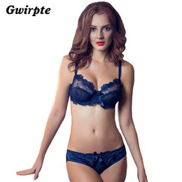 Wholesale Sexy Junior Bras - Lingerie Women Bra Set Sexy Junior Tops Transparent Bra Underwear Set VS Pink Sexy Bra&Panty Sets Plus Size A B C D 030