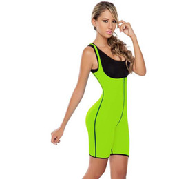 Wholesale Wholesale Spandex Bodysuits - Women Sport Body Shaper Training Trainer Corset Spandex Plus Size Slimming Bodysuits Lady Shapewear Free Shipping