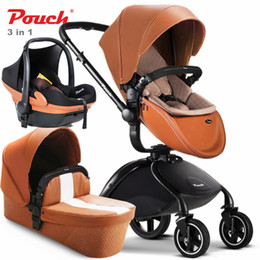 Wholesale Bassinet Strollers - Luxury Baby Prams , 4 Colors Available, 2 in 1   3 in 1 Cart , Baby Stroller   Independent Bassinet   Safety Car Seat