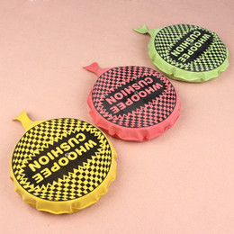 Wholesale Funny Pad - Whoopee Cushion Jokes Gags Pranks Maker Trick Funny Toy Fart Pad Fashion Random Color WD281AA