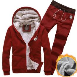 Wholesale Men S Slim Suits Sale - Wholesale-2016 winter new men's sweatshirts suit cardigan jacket hot sale fashion casual Hooded Slim plus thick velvet track suit men gray