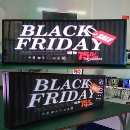 Wholesale full color led display - LED full color display electronic advertising screen led logo signboard 39X14 inch