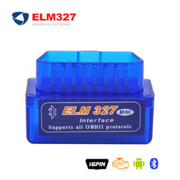 Wholesale Obd2 Elm327 Bluetooth Adapters - Mini Bluetooth ELM327 OBD2 V1.5 V2.1 Diagnostic Scanner With Power Switch on off button ELM 327 BT adapter V 1.5