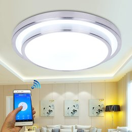 Wholesale Indoor Wireless Remote Control - Jiawen LED Wifi Wireless Ceiling lights Aluminum+Acryl Indoor Smart lighting with App Remote Control