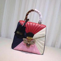 Wholesale Black Leather Backpack Handbags - Fashion women handbags Luxury 26cm platinum package Khaki embossed gold silver buckle bags