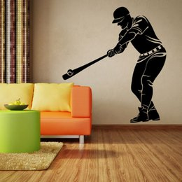 Wholesale Black Korean Style Glasses - Home decoration baseball figures wall stickers cool sports star stickers creative bedroom wall stickers Sports Decal Posters for home decor