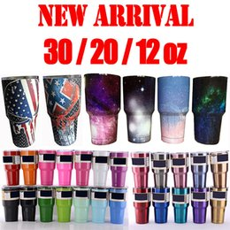 Wholesale New oz Tumblers Bilayer Vacuum Insulated Stainless Steel Cups Double Wall Cups Travel Vehicle Beer Mugs Starry Sky Skull