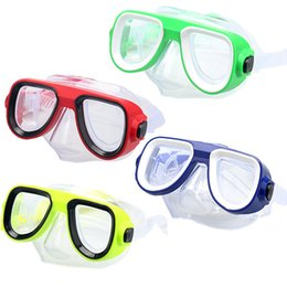 Wholesale Diving Equipment Set - Wholesale- Professional Kids Children Swim Pool Underwater Swimming Goggles Glasses Free Diving Face Mask Equipment Snorkel Set Accessories