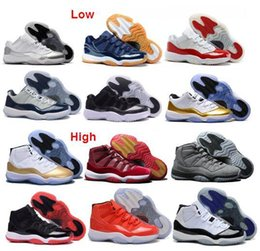 Wholesale Rhinestone Split - Wholesale Metallic Gold Olympic Air Retro Low 11 Retro 11s hot sale free shipping Basketball Shoes Men and Women