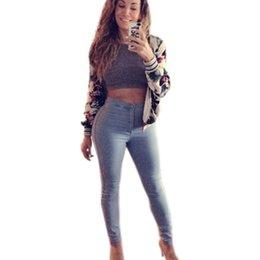 Wholesale Skinny Jeans For Ladies - Wholesale- 2016 Jeans Woman Sexy Tight Skinny Jeans Woman Slim Pencil High Waist Jeans Femme Blue Plus Size Clothing For Ladies Newest