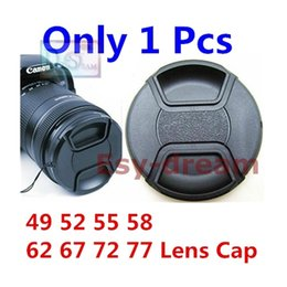 Wholesale 58mm Center Pinch - Wholesale-49mm 52mm 55mm 58mm 62mm 67mm 72mm 77mm Center Pinch Snap-on Front Lens Cap For Camera Lens Filters With String PA262
