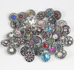 Rhinestone Snaps Button Charm Jewelry Mix Styles Jewelry 18mm Rhinestone Metal Snap Button Charm Fit Bracelets NOOSA Chunk Christmas Gift desde fabricantes