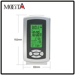 Wholesale Home Indoor Outdoor Weather Stations - MOCITA RF Home Wireless Weather Station with Backlight Digital Indoor Outdoor Temperature Humidity Remote Transmitter Digital Alarm Clock