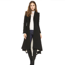 Wholesale Winter Jackets Wind Woman - The autumn winter new ladies casual slim swallowtail coat wind jacket
