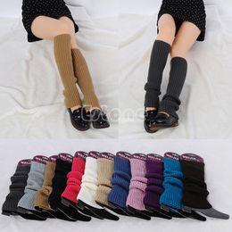 Wholesale White Slouch Socks - Wholesale-Free Shipping Women Winter Warm Knit Crochet Slouch High Knee Leg Warmers