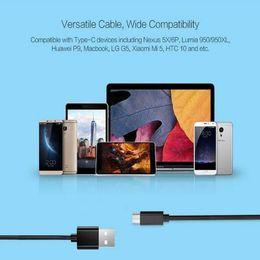Deutschland USB-Typ-C-Kabel 3.3ft 1M 2A USB-Sync-Ladungsschnellladung 56k für Huawei P9, Macbook, LG G5, HTC Freeshipping Versorgung