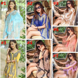Wholesale Free Sunscreen - Women Paisley Sarong Scarves Sunscreen Shawl Print Bikini Cover Ups Poncho Beach Towels Fashion Wrap Sexy Pashmina Swimwear Beachwear