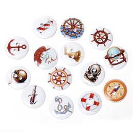 Wholesale Projects Sewing - Kimter Radom Mixed Helm Round Wooden Sewing Buttons 2 Holes 15mm For DIY Craft Scrapbooking Dressmaking Kids' Projects Pack Of 200pcs I644L