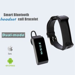 Wholesale Dual Mode Watches - K2 Smart Watch Bracelet Bluetooth 2 in 1 Stereo Headphone Headset Wristband Dual-mode Sleep Monitor Smartwatch With Box