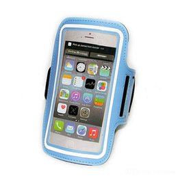 Wholesale Wholesale Leather Arm Bands - For S7 Edge Case Iphone 6 Waterproof Sports Running Armband Case Workout Armband Holder Pounch For Iphone Cell Mobile Phone Arm Bag Band