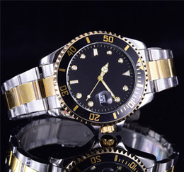 Wholesale Men Watch Automatic Brown - the latest fashion automatic date luxury fashion men and women of the steel belt movement quartz clock men watch