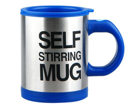 Wholesale Smart Tea - Smart Stainless Steel Self Stirring 400 ML Automatic Electric Coffee Mugs Perfect Mixing Coffee Tea Cup P25