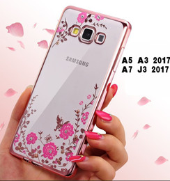 Wholesale Luxury Garden Wholesale - Luxury Bling Electroplate Case For Samsung s8 Soft TPU Case For Samsung Galaxy s8 plus Secret Garden Flower Clear Cover Shell