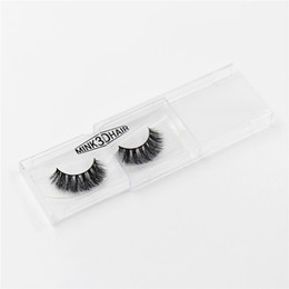 Wholesale Thick Makeup - 3D mink eyelashes Messy Cross Thick Natural Fake Eye Lashes Professional Makeup Bigeye Eye Lashes Handmade A014