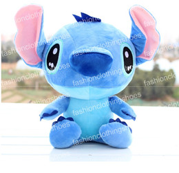 Wholesale 18cm High Animals - Free Shipping Hot Sale High Quality Cute Lilo & Stitch Plush Doll Toys 18cm Lovely Stitch Toys Plush Animals For Child Gifts Wholesale