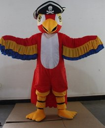Wholesale Eagle Mascot Costume Cartoon - Cartoon Character Colourful Parrot Adult Mascot Eagle Bird Costume Fancy Birthday Party Dress Halloween Carnivals Costumes With High Quality