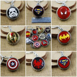 Wholesale Girls Spider Jewelry - 10 Styles Super Hero X-Men Keychain Spider-Man Key Chains Keyring Souvenirs Anime Movie Series Jewelry Accessories Gift C25L