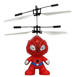 Wholesale Indoor Remote Helicopters - 2017 RC Toy Flying remote control Spaceman Helicopter induction aircraft toy helicopter drone indoor children gift Toys
