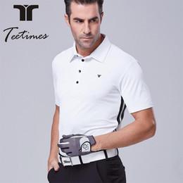 Wholesale Polo Original - Mens golf polo shirt for spring summer quick dry golf t shirt man Original quality golf clothing short sleeves