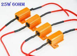 Wholesale Load Resistor 25w - 4PCS 25W 6ohm Gold Fuse LED Bulbs Motorcycle High Power Fog Turn Brake Signal Load Resistor Wiring Canbus No Error Fix LED Flash Blink Hyper