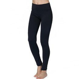 Wholesale Nylon Yoga Pants - 2017 new European female explosion tight pants Leggings abdomen elastic nylon pants to wear comfortable running fitness yoga