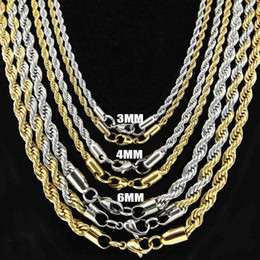 Wholesale Wholesale Horn Jewelry - Europe and America Fashion Jewelry 925 Silver Chains For Necklaces Top Quality Gold Rope Chains For Men Xmas Gift