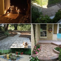 Wholesale Garden Cement - DIY Plastic Path Maker Mold Cement Brick Molds Stone Road Auxiliary Tools Manually Paving For Garden Decor 43.5*43.5cm
