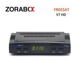 Wholesale Wholesale Satellite Receivers - Free To Air Satellite Receiver Freesat V7 HD DVB-S2 Support Cccam Newcam Bisskey Poweru Youtube Youporn USB 3G Dongle Network Sharing