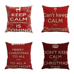 Wholesale Pillow Cases Vintage Linen Cotton - Vintage Christmas Decorative Cushion Cover Throw Pillow Case Pillowslip Case for Sofa Bed Square Cotton Linen 45cm*45cm