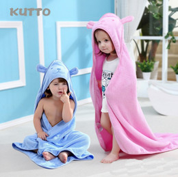 Wholesale Child Cotton Bath Robe - Kids Towel 2017 Toddler 100% Cotton Bathrobe Baby Boys Girls Spring Animal Hooded Bath Towel Children Cartoon Towel