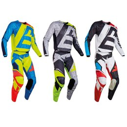 Wholesale Atv S - 2017 NIRV 180 HC Motocross Gear Jersey & Pant Combo Men's Motocross MX ATV Dirt Bike Racing Sets motocross pants