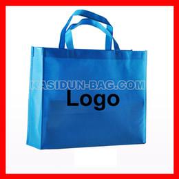 Wholesale Custom Eco Friendly Shopping Bags - Wholesale- (1000pieces lot) W40XH35XD10CM Custom logo eco-friendly non-woven fabric large gift shopping bag