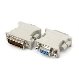 Dvi d vga cable en Ligne-100pcs / lot en gros DVI 24 + 1 / DVI 24 + 5 mâle à adaptateur femelle VGA adaptateur DVI-D DVI-I DVI-A livraison gratuite