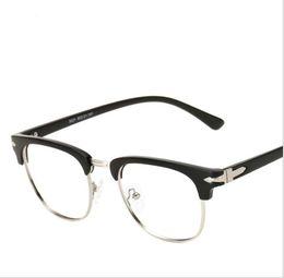 7ab9bd49ee2 Donna TR90 Flexible Frame Man Glasses Optical Eyeglasses Wood Half Frames  for Men Women Reading Clear Lens