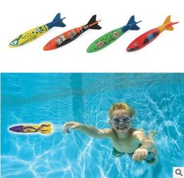 Wholesale Dove Bath - outdoor beach Pool Water toys Dive torpedo throwing toys shark Funny toys for Children boys girls DHL Free Shipping