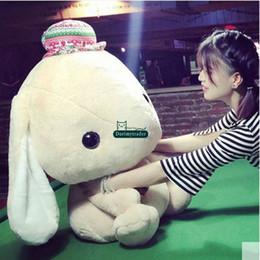 Wholesale Bunny Pillow - Dorimytrader 75cm Large Lovely Soft Cartoon Bunny Plush Toy 30cm Big Stuffed Animal Rabbit Doll Pillow Girl Prsent DY60048