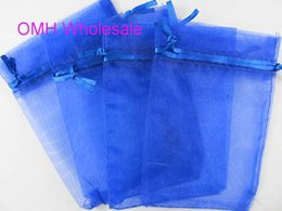 Wholesale voile pink - OMH wholesale100pcs Dark blue pink green 7x9cm nice chinese voile Christmas   Wedding gift bag Organza Bags Jewlery Gift Pouch BZ04