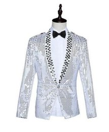 Wholesale Dress Polka Dot Pants - equins blazer men formal dress latest coat pant designs suit men costume homme terno masculino suits for men's bar host singers