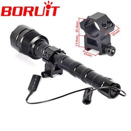 Wholesale gun mounted flashlight - 3800Lumen Hunting Flashlight 3 T6 LED lanterna Torch 5 mode 3T6 Flash light lampe torche with Remote Pressure Switch+Gun Mount